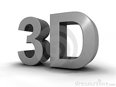 3d letters isolated