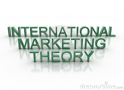 3d letters spelling international marketing theory