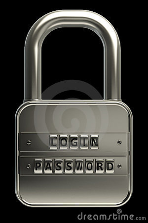 3d lock password. Objects over black