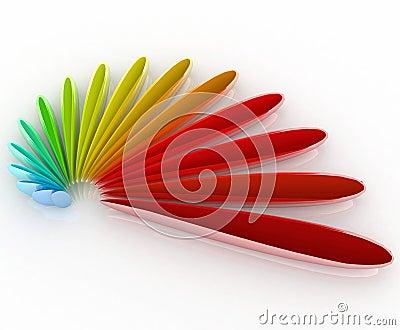 3D logo color