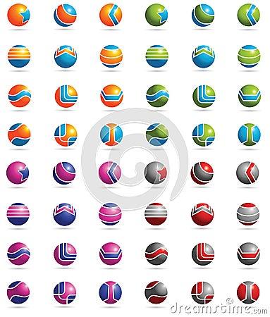 3D Logo elements