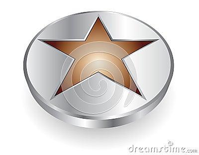 3D logo metallic star