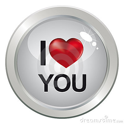 3d love button for couple