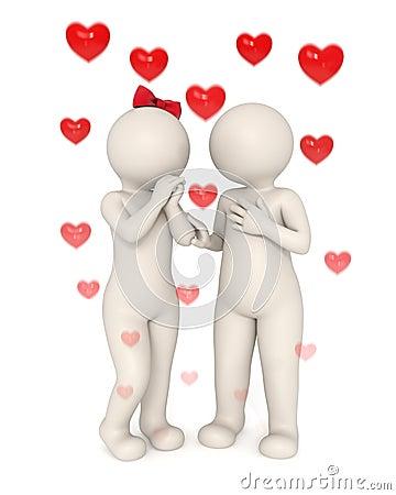 3d lovers talking