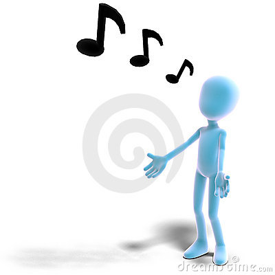 3d male icon toon character sings out loud stock images image 15386404 - Wc a l oud ...