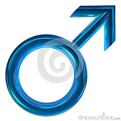3D male symbol