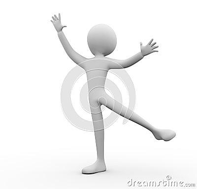 3d man ballet dance