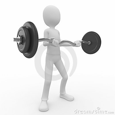 3d man with barbell