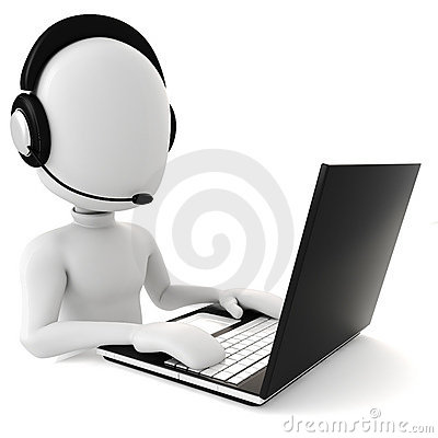 Free 3d Man - Call Center Royalty Free Stock Image - 13953506