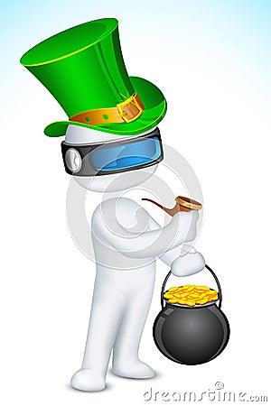 3d Man celebrating Saint Patrick s Day