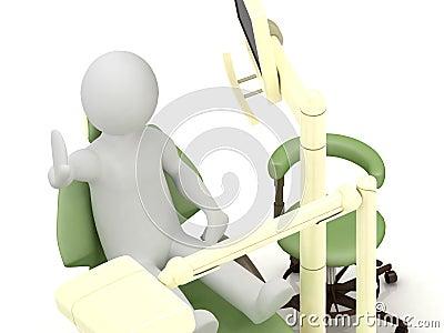 3d man in the dental office