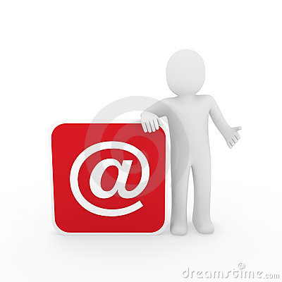 3d man email Stock Photo