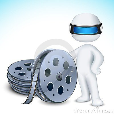 3d Man with Film Reel