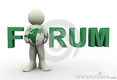 3d man forum text