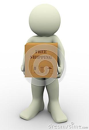 3d man free shipment