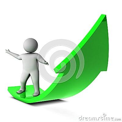 3d man on green arrow