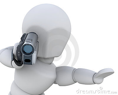 3D man with handycam