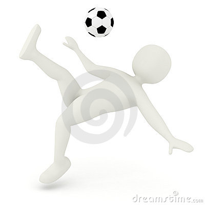 3d man makin bicycle kick