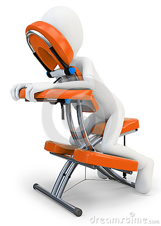 3d Man And Massage Chair Stock graphy Image