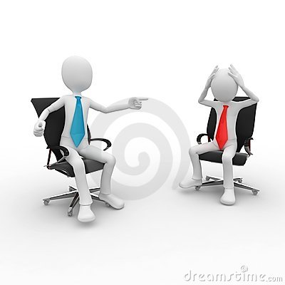 3d Man At The Office Meeting Royalty Free Stock Photos - Image: 16264038