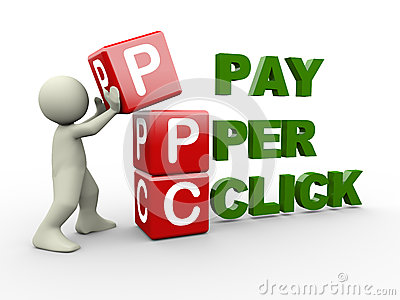 3d Man And Ppc Cubes Stock Photos - Image: 28523733
