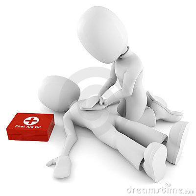 3d man providing first aid support Editorial Stock Image