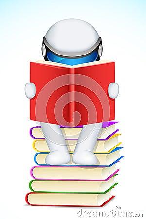 Free 3d Man Reading Book Stock Photos - 25015623