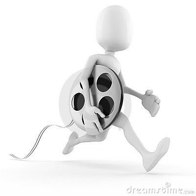 3d man running to bring the newest  film