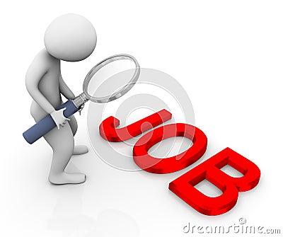 3d man searching job