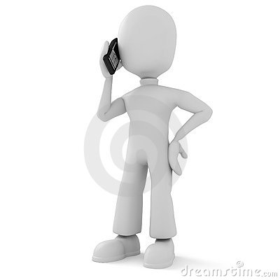 3d man, speaking on the phone