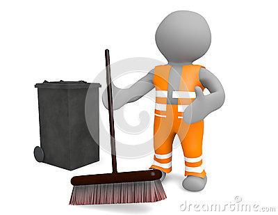 3d man street sweeper