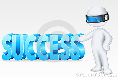 3d Man with Success
