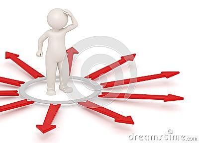 3d man thinking - Choices