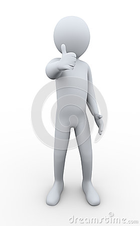 3d man thumbs up