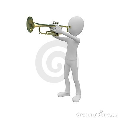 3d man with trumpet