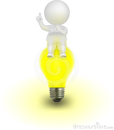 3d Man Vector Illustration Having An Idea Stock Photo