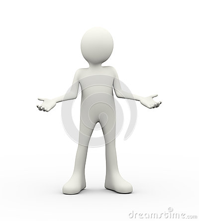 Free 3d Man What Do You Want Gesture Posing Stock Photo - 51967930