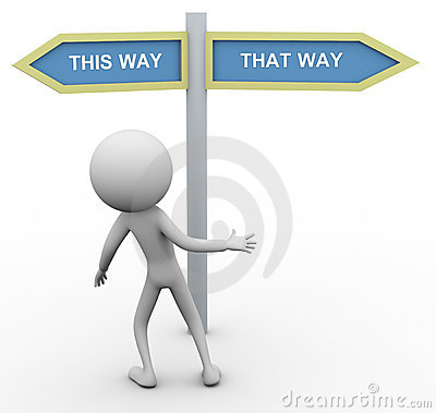 Free 3d Man Which Way To Go Royalty Free Stock Images - 21667179
