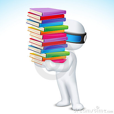 Free 3d Man With Book In Vector Stock Photos - 22937973