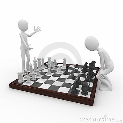 Free 3d Man With Chess Game Stock Photo - 15828460