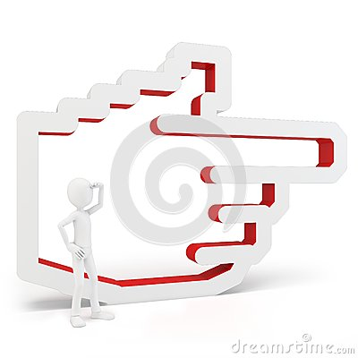Free 3d Man With Hand Icon Stock Image - 25225441