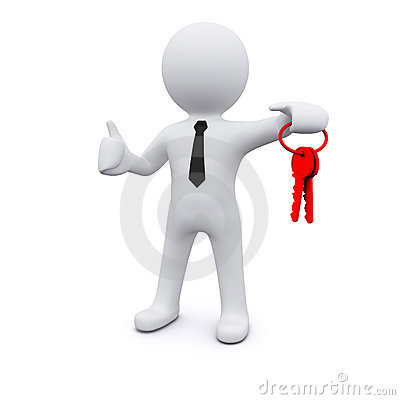 Free 3D Man With Keys Stock Photo - 20911690