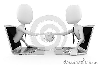 3d man World Wide Web business concept