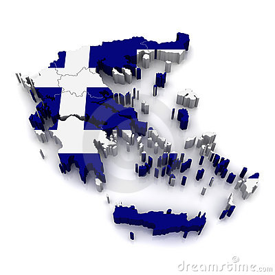 3D Map of Greece