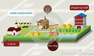 3D map  illustration
