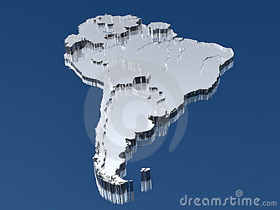 3D Map of South America