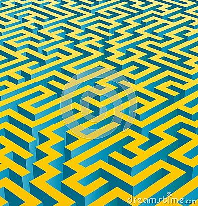 3D maze (vector)