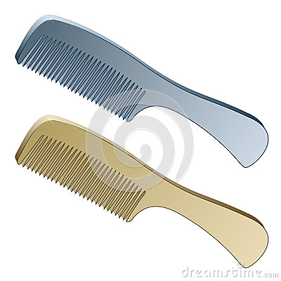 Free 3d Metallic Combs Stock Image - 24647981