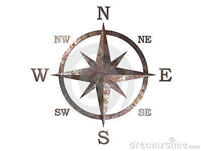 3d model of compass with clipping path