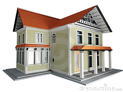 3d model of the cottage isolated